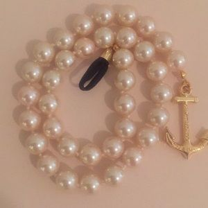 Glass Pearl Anchor Necklace - Kiel James Patrick